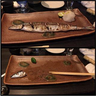 秋刀魚の塩焼き(日本酒ばー このや )
