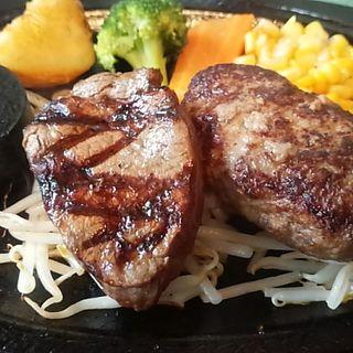 黒毛和牛サーロインステーキ&ハンバーグ(あ・かうはーど )