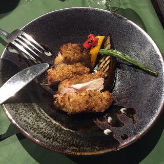 京都産地鶏の香草パン粉焼き(QUATRE SAISONS (クワトロ セゾン))