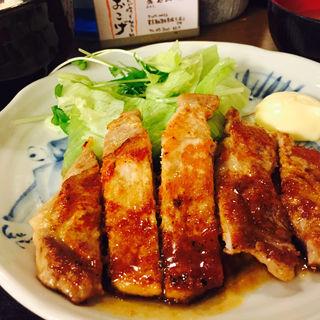 豚ロース生姜焼き(おこげ )