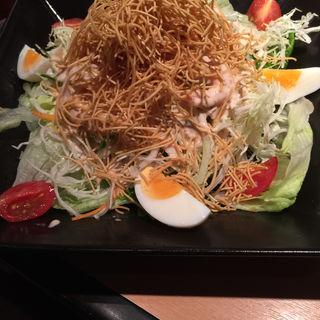 特製サラダ「ゴマだれ」(焼肉屋さかい 京都一乗寺店 (ヤキニクヤサカイ))