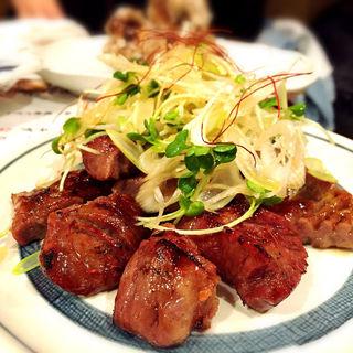 味噌たん焼 ネギ盛り(恵比寿 牛タン 英司)