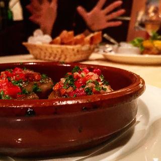 マッシュルームの鉄板焼(カサデフジモリ )