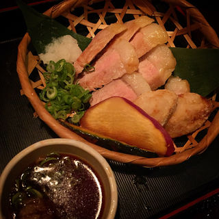 国宝豚のグリル  自家製ポン酢(楽坐 京都本店 (らくざ))