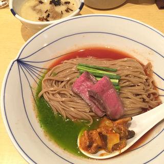 牛白湯つけそば(夏麺第9弾)(饗 くろ喜 (もてなし くろき/饗 くろ㐂))
