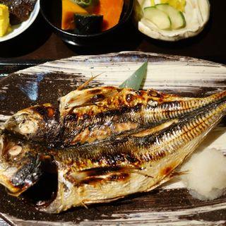 アジの焼き魚定食(割烹 久田 (ひさだ))
