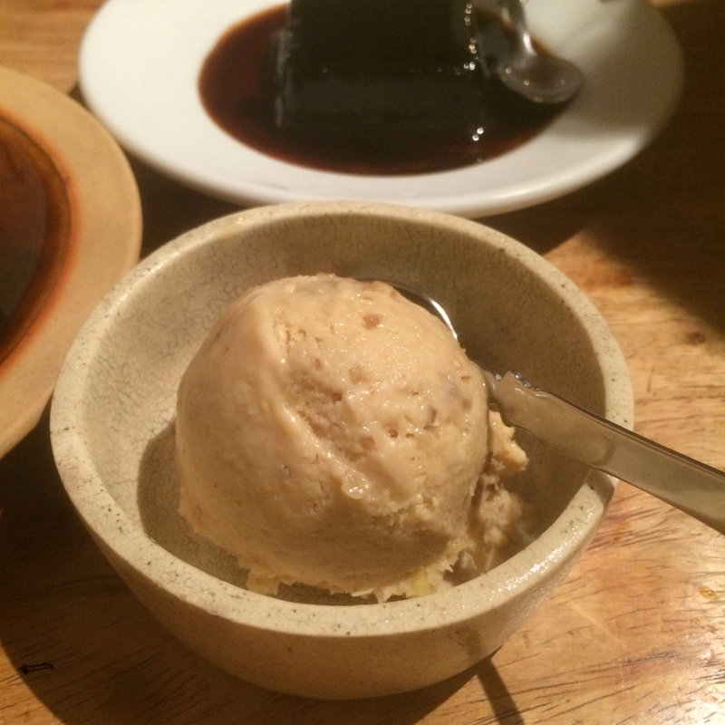 栗とくるみの自家製アイス