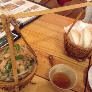 青いパパイヤとエビのサラダ(ベトナム酒場 ビアホイ )