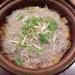 ジャコとサツマイモの炊き込みご飯