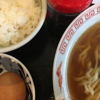 らーめんと卵がけご飯(松屋製麺所 )
