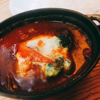 焼きチーズSTOUBカレー(渋谷バール&ダイン)
