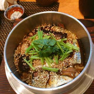 新さんまとゴボウの釜炊き(いわ月 (イワヅキ))