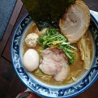 特製 中華煮干蕎麦(らーめん銀杏 松戸店)