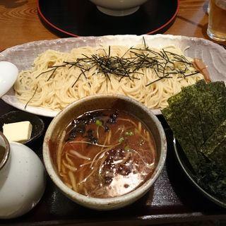 濃厚醤油つけ麺 のり + バター ・ 中盛(ぐうの音 )