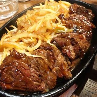 ハラミ焼定食(焼肉ホルモン亀山)