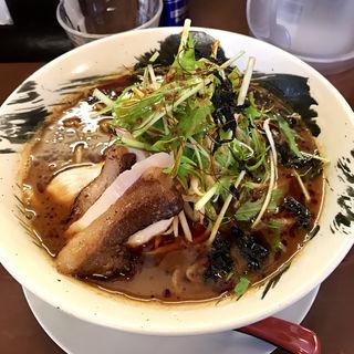 西川カレーラーメン 大盛(鶏骨スープ 青桐 (けいこつすーぷあおぎり))