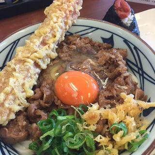 牛すき釜玉(丸亀製麺 熊取店 )