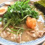 熟成醤油 ねぎ肉そば 半熟煮玉子入り 924円(丸源ラーメン 姫路今宿店 )