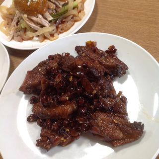 手羽先煮、棒々鶏(四川閣)