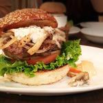 ハンバーガー+ハニーマスタードタルタルソース+マッシュルーム+グリルドオニオン トッピング