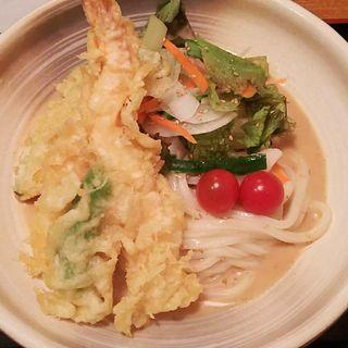 天ぷら胡麻だれ冷うどん(うどん割烹 花きり (はなきり))