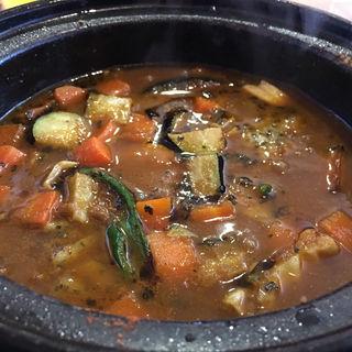 ラム挽肉キノコカリー(スープカリーばぐばぐ 南1条店)