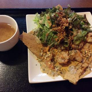 プリプリ海老のクリーミーガレット(hana cafe )