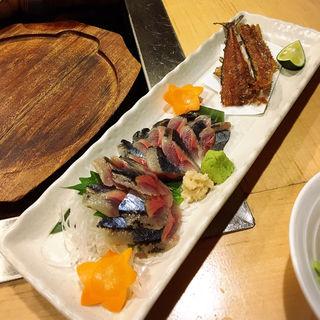 サンマの刺身(鉄板焼 廣島お好み焼 ぶち 恵比寿本店 )