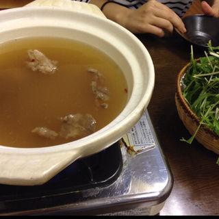 牛スジ肉のハリハリ鍋  100円(韓国ラーメン 明洞 (みょんどん))