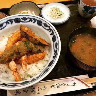 海老天丼膳(割烹 躍金楼 (てっきんろう))