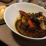 ブタの角煮カレー オマールスープ(FUKUROO. (梟))