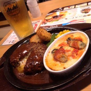 チーズハンバーグアンド牡蠣グラタン(ガスト 久屋大通店 )