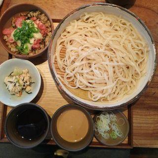 ネギトロ山かけミニ丼とうどんのセット(うどん山長)