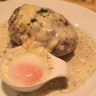 ハンバーグ モッツァレラチーズ 200g クリームマスタードソース(ハンバーグ ウィル (Hamburg Will))