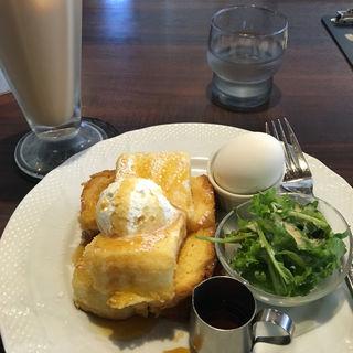 モーニング フレンチトーストセット(星乃珈琲店西明石店 )