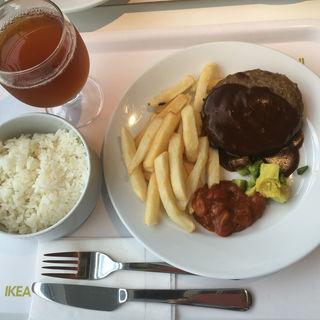ビーフ100%ハンバーグ(IKEA レストラン&カフェ 鶴浜店 (イケア))