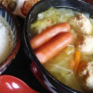 つくねたっぷり野菜のスープ定食(串八珍 新川店 )