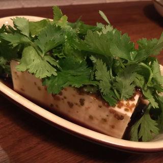パクチー豆腐(ちぃりんご)