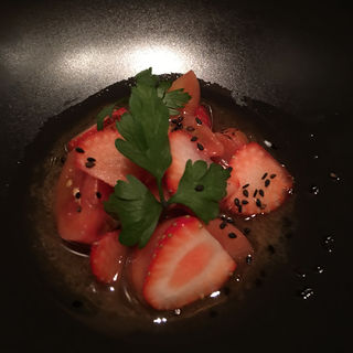 苺とフルーツトマトのマリネ(ル・プレヴェール (Le Pre Verre))