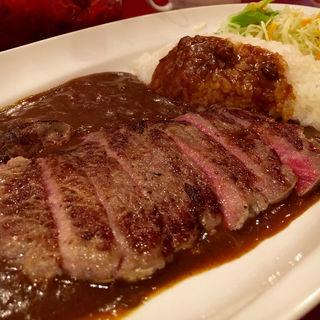 ステーキ&カリー(まんぷく食堂 (まんぷくしょくどう))