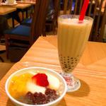 フルーツ豆花&タピオカミルクティーセット