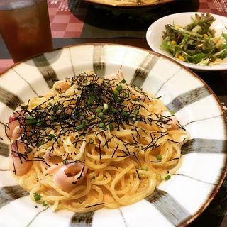明太子とやりいかの濃厚クリームパスタ  焼きのり風味(鎌倉パスタ)