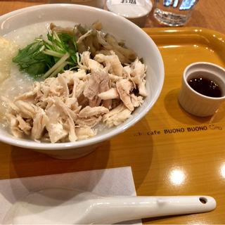 蒸し鶏とザーサイのおかゆ S(MOMOGAYUYA)
