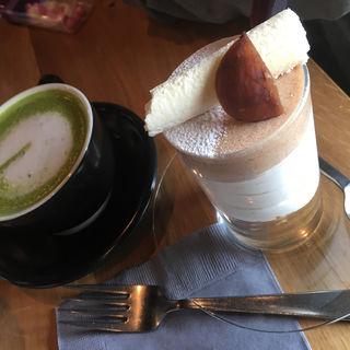 抹茶ラテ&モンブラン(CAFE the CORNER)