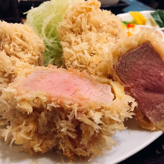 霧降り高原豚シャ豚ブリアン(180g)かつ定食(成蔵 (ナリクラ))