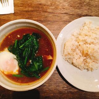 チキンほうれん草スープカレー(sync)
