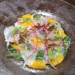真鯛のカルパッチョ 柑橘風味