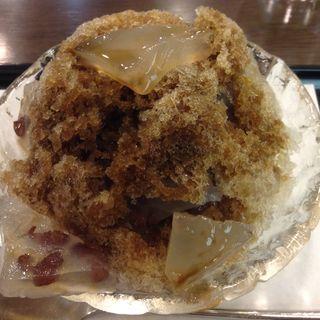 黒糖かき氷(御菓子司 菊屋 阪急三番街店 )