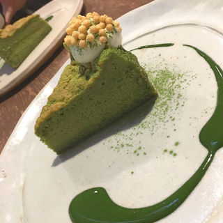 お抹茶ミルクケーキ(カフェ 火裏蓮花 (カリレンゲ))
