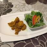 サブジとミニサラダ(キッチンシャンティ (Kitcen Shanti))